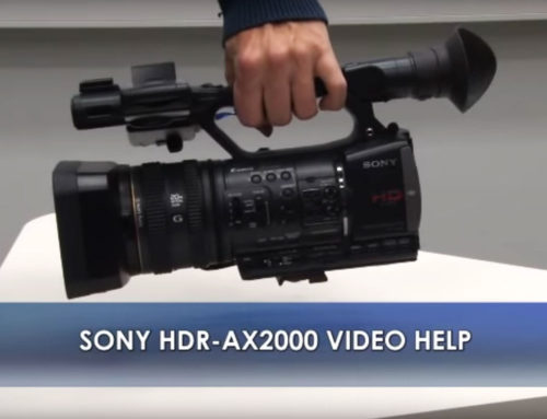 Video camera instructions Sony HDR-AX2000